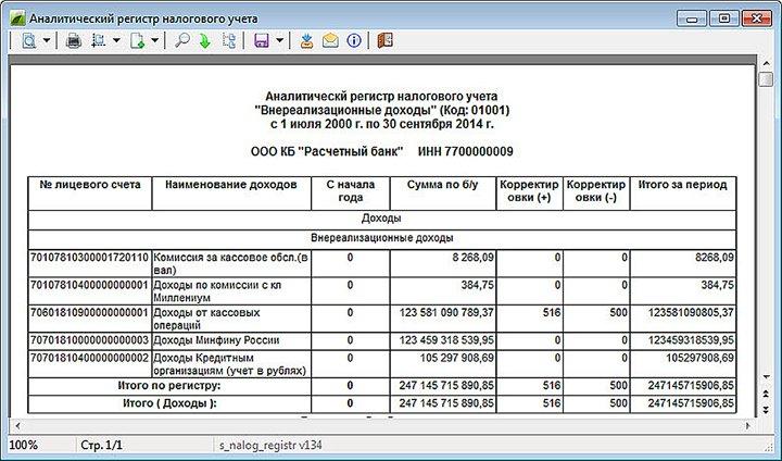 Как сделать налоговые регистры в 1с 8.2
